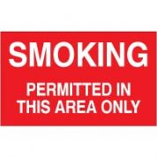 No Smoking safety sign - Smoking Permitted 037
